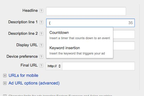 Adwords countdown ads 2