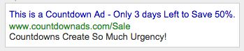 Adwords countdown ads 1